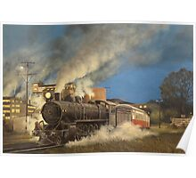 Night Train at Boyer, Tasmania Poster