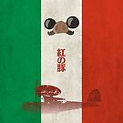 Ghibli Minimalist 'Porco Rosso' by doodlewhale