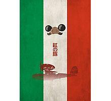 Ghibli Minimalist 'Porco Rosso' Photographic Print