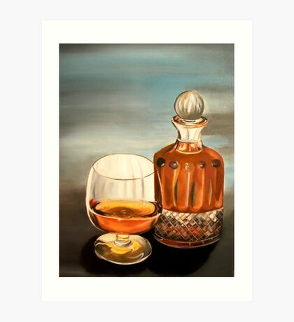 Have A Drink On Me (Light blue background) Art Print