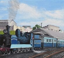 The Westcoaster at Burnie Station, Tasmania by Michael Bessell