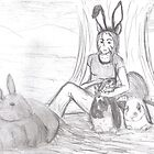 hanging with the bunnies by tukara
