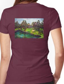 Agnes Water Golf Course - the drinkin' hole Womens Fitted T-Shirt