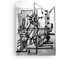 Drawing Study for a Sculpture. Canvas Print