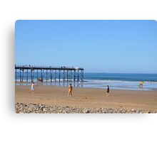 Saltburn Beach Canvas Print