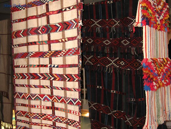 Rugs made by Bedouins wemen at the Negev, Israel by Nira Dabush