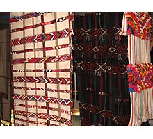 Rugs made by Bedouins wemen at the Negev, Israel Photographic Print