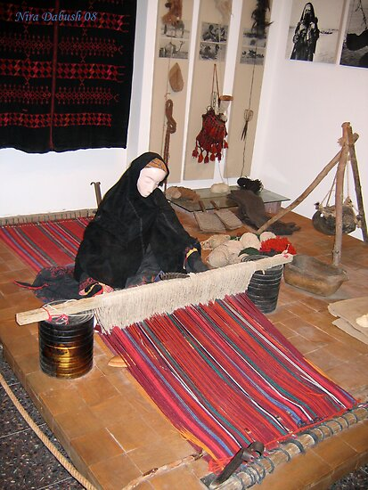 At the Jo Alon's center..The Bedouin Weaver by Nira Dabush