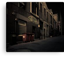 Garbage Lane Canvas Print