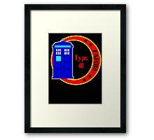 TARDIS logo Framed Print