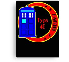 TARDIS logo Canvas Print