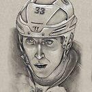 Zdeno Chara - Boston Bruins Hockey Portrait by HeatherRose