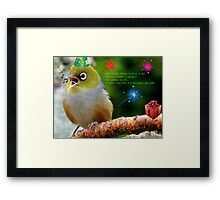 Merry Christmas Bubbler's! - Silver-Eye - NZ Framed Print