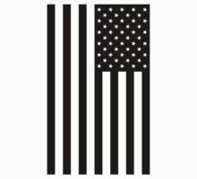 Black and White American Flag by tagstork