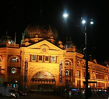 Australia Day Flinders Street Melbourne by Bekster