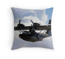 Catalina Flying Boat Throw Pillow