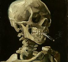 Vincent van Gogh - Head of a skeleton with a burning cigarette - 1886 by forthwith