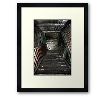 To The Basement Framed Print