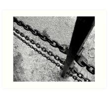 Chain fence Art Print