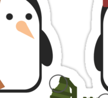 Penguin Mercenaries Sticker