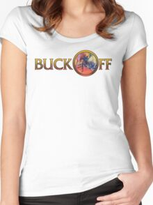 Buck Off r Women's Fitted Scoop T-Shirt