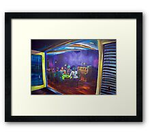 Maritas Garage - artist Bob Gammage Framed Print