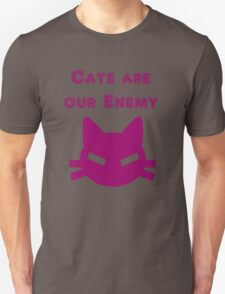 Iskybibblle Products Cats are our Enemy Pink T-Shirt