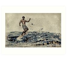 Anonymous surfing Art Print