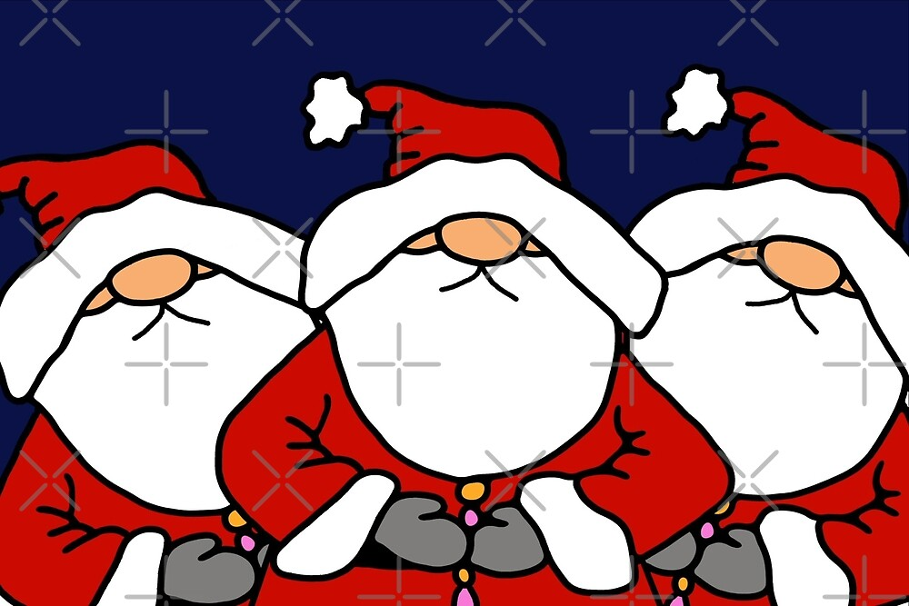 Three Santas by Yampimon
