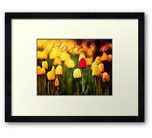 What Lovely Flowers Framed Print