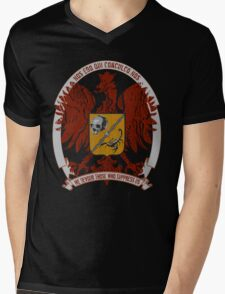 We Devour Those Who Suppress Us-CREST Mens V-Neck T-Shirt