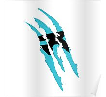 Rush Claw Mark (Blue) Poster