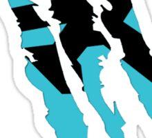 Rush Claw Mark (Blue) Sticker