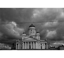 Cathedral under stormy skies Photographic Print