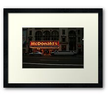 Fast Food in Style Framed Print