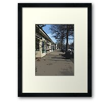 SMALL TOWN USA Framed Print