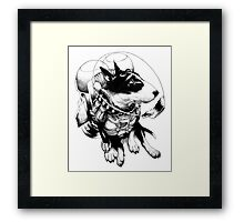 Jetpack Dog | Curtiss Framed Print