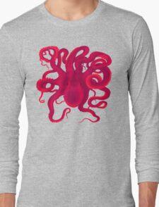 Pink Octopus  Long Sleeve T-Shirt