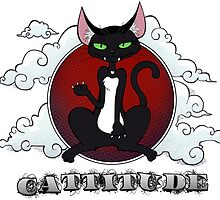 Cat with Attitude: Black & Red by shadowbomb