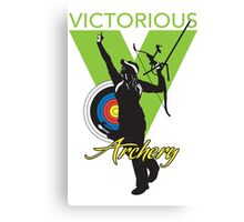 Victorious Archery Girl  Canvas Print