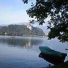 Lazy evening, Lake Bled Slovenia by oscars