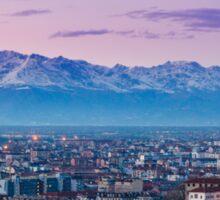 Turin (Torino), twilight panorama Sticker