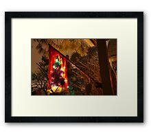 Christmas on the Rocks Framed Print