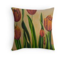 Tulipas vermelhas Throw Pillow