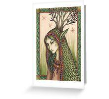 She spoke a green language... Greeting Card
