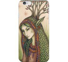 She spoke a green language... iPhone Case/Skin
