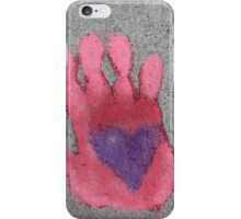 Heart in hand iPhone Case/Skin