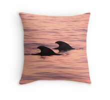 Pilot Whales Throw Pillow