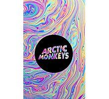 Arctic Monkeys Color Swirl  Photographic Print