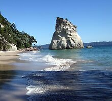 Shadowy Cathedral Cove by Brittany Schneider